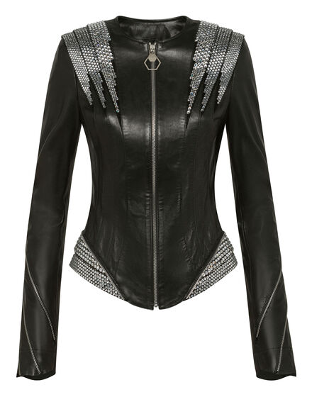 Leather Jacket Crystal