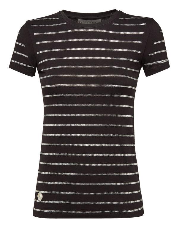 "T-shirt Round Neck SS ""Strass"""