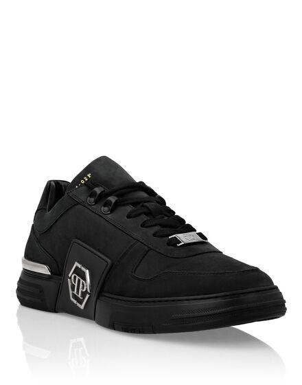 Nabuk Leather Lo-Top Sneakers  Phantom Platinum