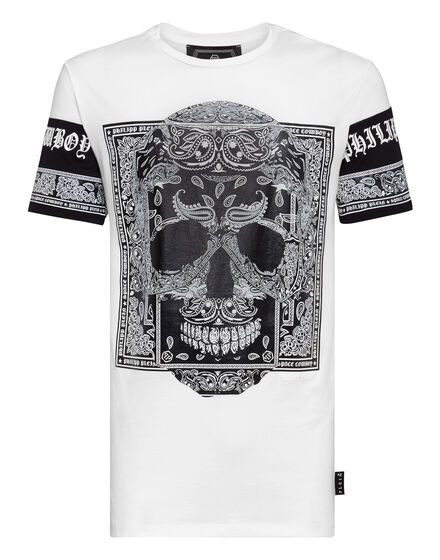 T-shirt Platinum Cut Round Neck Paisley
