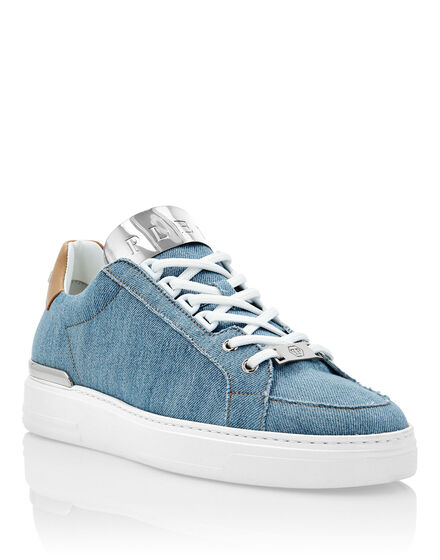 Denim Lo-Top Sneakers Silver $urfer TM