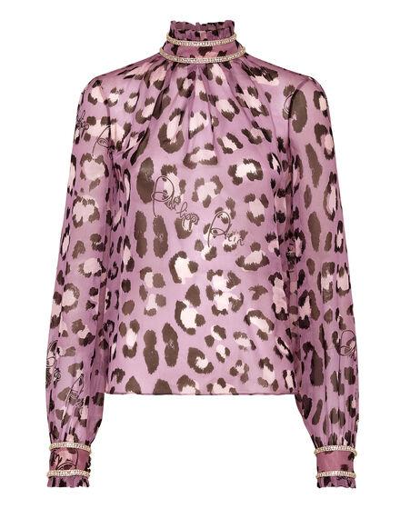 Silk Blusa print Leopard