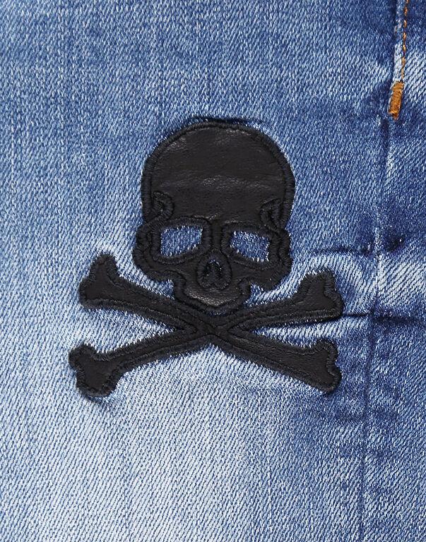 Denim Trousers Skull