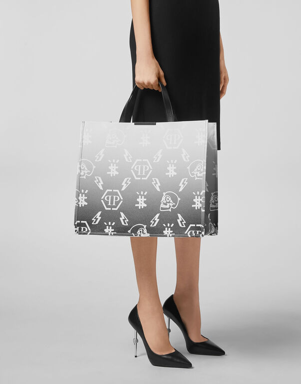 Leather Handle bag Degradè print Monogram