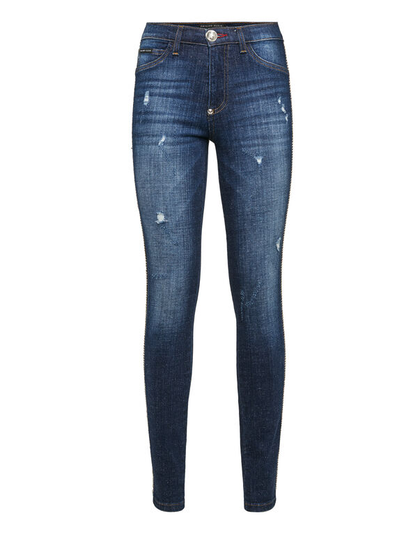 "High Waist Jegging ""Crystals Stripes"""