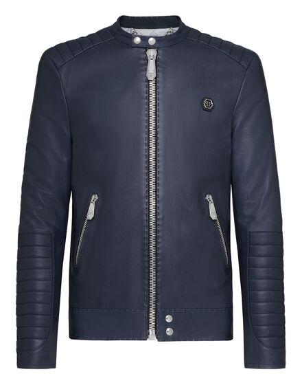 Lambskin hand stitch Moto Jacket Iconic Plein