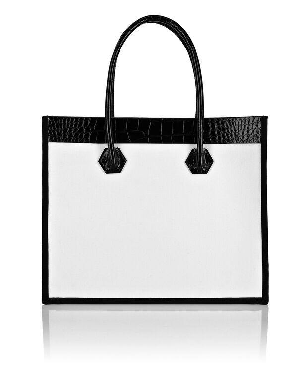 Canvas Tote Bag croco print insert Philipp Plein TM