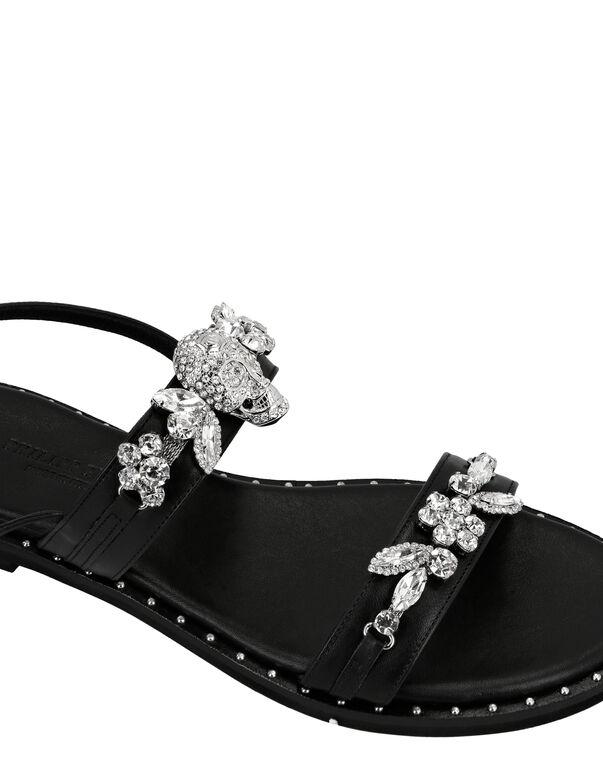 Sandals Flat Crystal