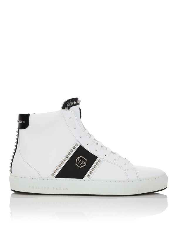 "Hi-Top Sneakers ""Studs and logo"""
