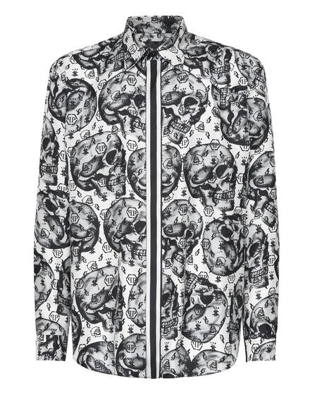 Silk Shirt Fit Dandy Skull