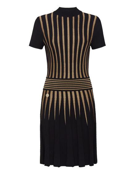 Knit Day Dress Gold