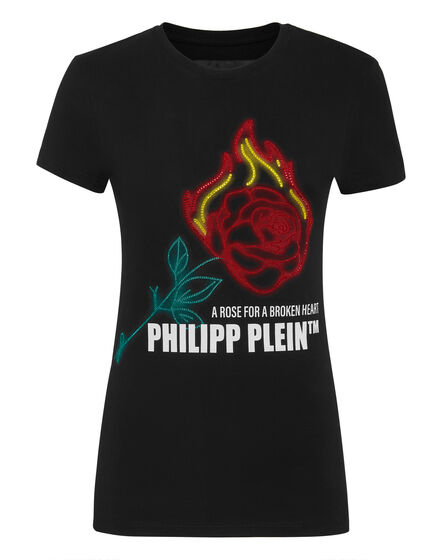 T-shirt Round Neck SS Neon rose