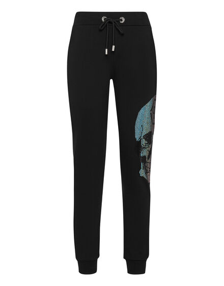 Jogging Trousers Rainbow Skull strass