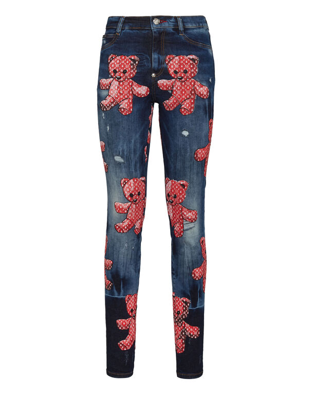 High Waist Jegging Allover Teddy Bear