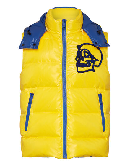Nylon Short Vest  Outline Skull