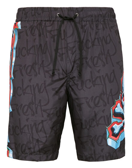 Boxer long beachwear Graffiti