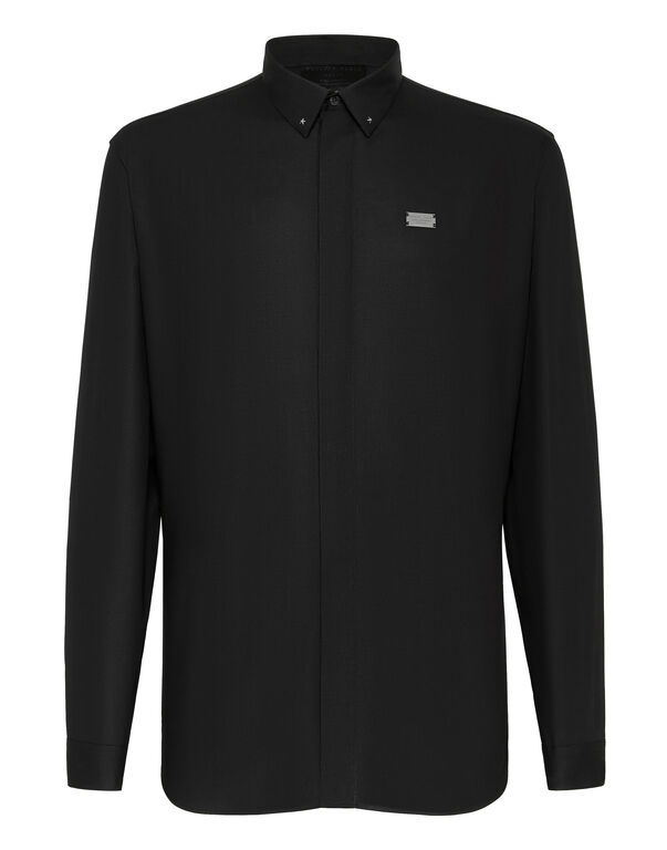 Shirt Crystal cut LS Hexagon