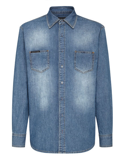 Denim Shirt Ls Istitutional