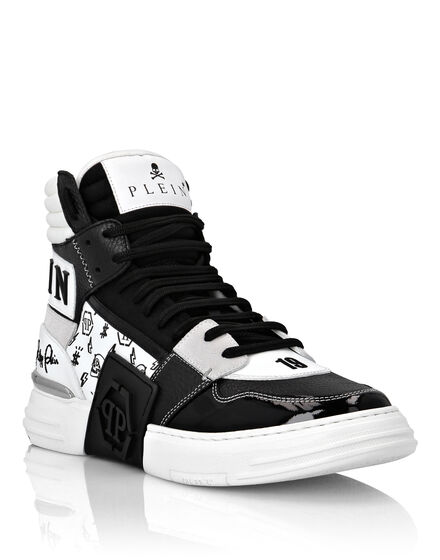 PHANTOM KICK$ Hi-Top Sneakers mix materials Monogram