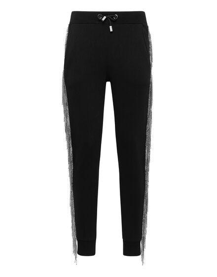 Jogging Trousers Silver Fringe