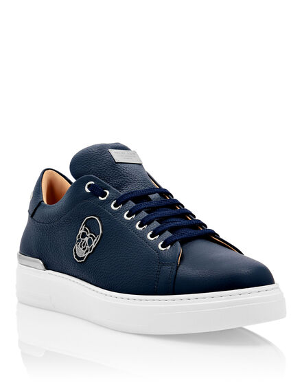 Leather Lo-Top Sneakers The $kull TM