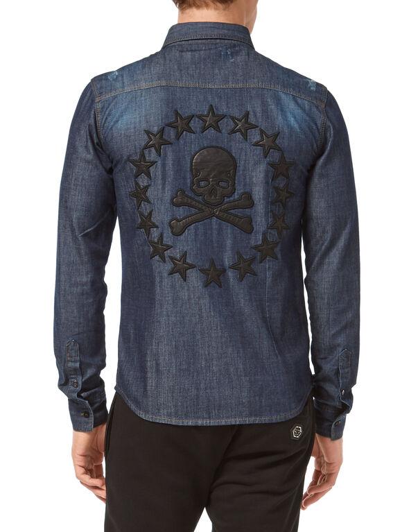 "Denim Shirt Ls ""Skull stars"""