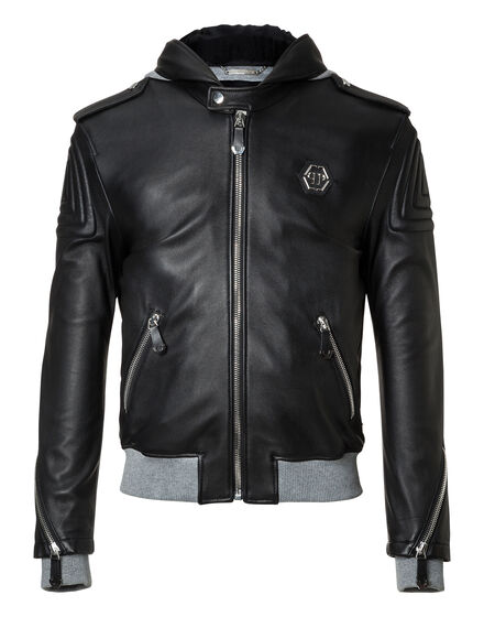 Leather Bomber Text