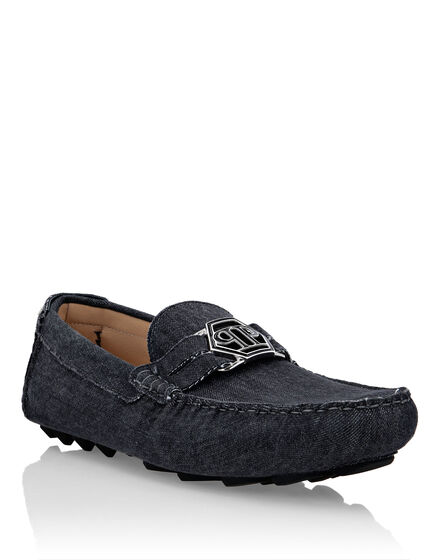 Denim Mocassin Hexagon