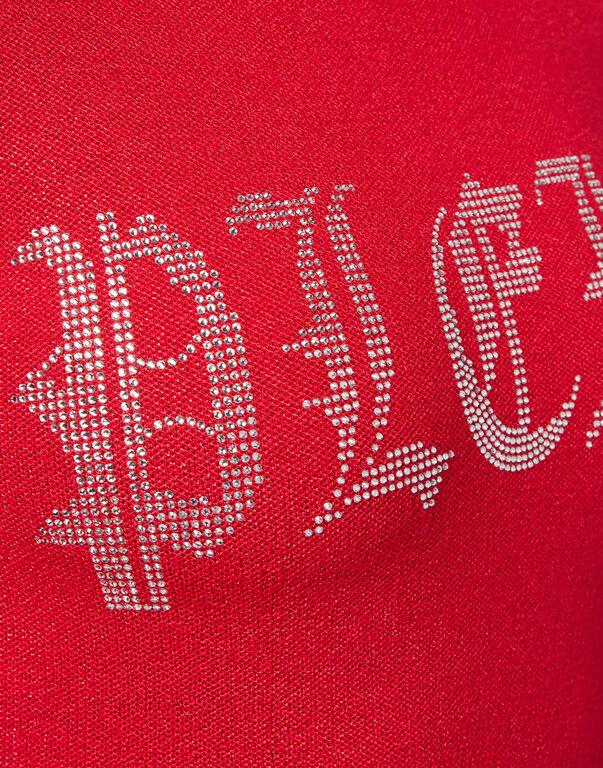 Knit Day Dress Crystal Plein