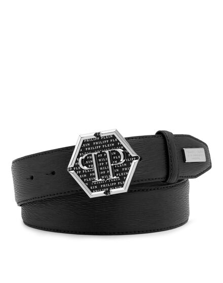 Leather Belt Hexagon