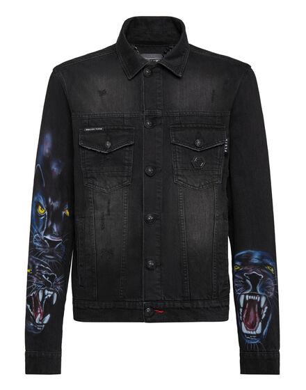 Denim Jacket Panther