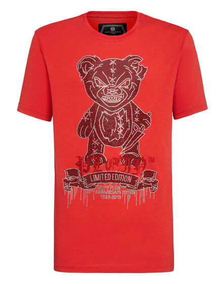T-shirt Platinum Cut Round Neck Teddy Bear