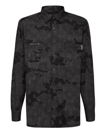 Denim Shirt Ls Camouflage Monogram