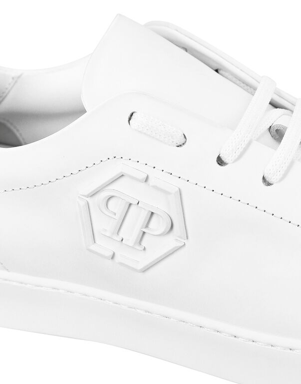 Rubber Leather Lo-Top Sneakers The Plein Original TM