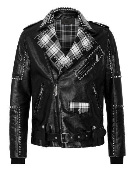 Leather Biker Flame