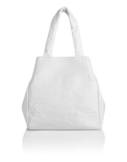 Leather Handle bag Embossed Monogram