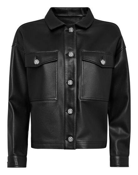 Soft Leather Shirt Crop