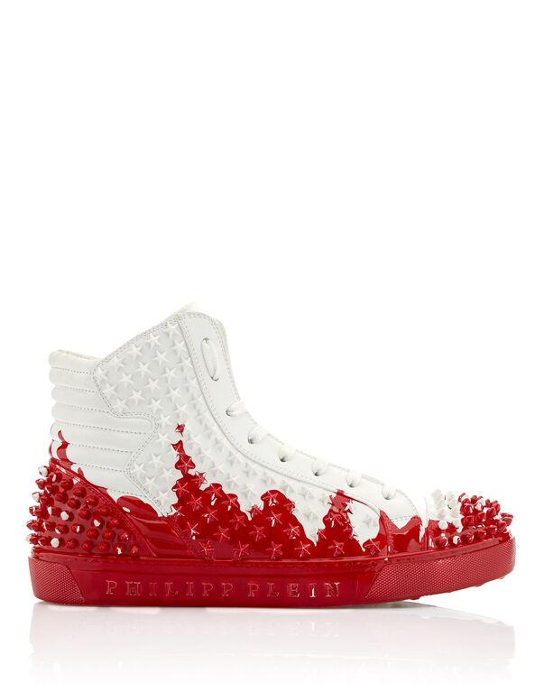 """Hi-Top Sneakers """"Painted"""""""