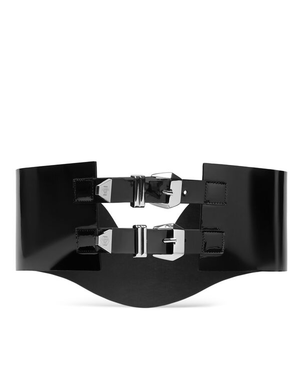 Belt Patent Leather Elegant