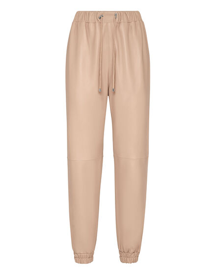 Soft Leather Jogging Trousers