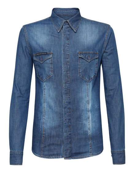 Denim Shirt Ls Sign hotfix