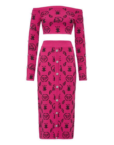 Top+Skirt Jacquard Monogram