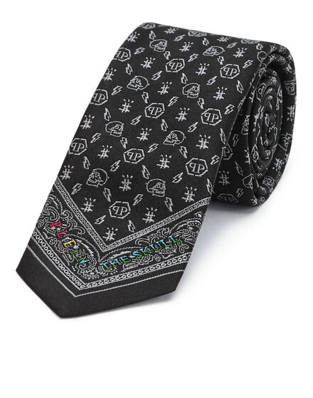 Thick Tie skull Monogram