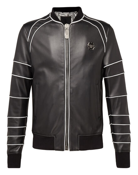 Leather Bomber Believe