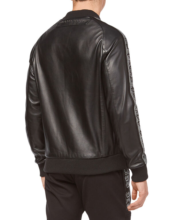 "Leather Bomber ""Sparkling"""