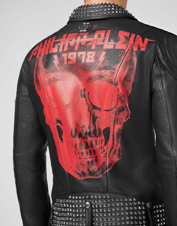 Leather Biker Skull and Plein