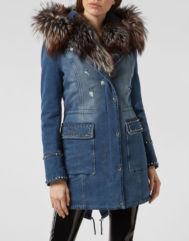 Denim Coat Statement