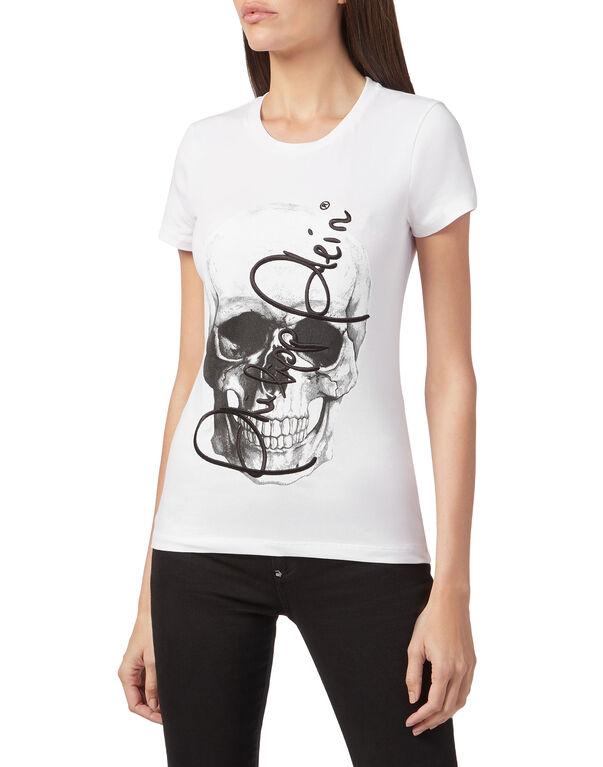 """T-shirt Round Neck SS """"Skull signature"""""""