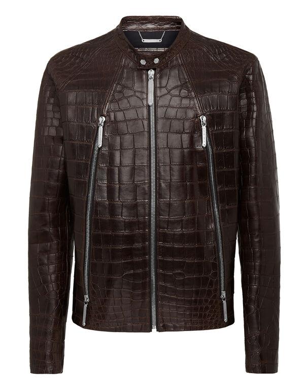 "Leather Moto Jacket ""Philipp cocco"""