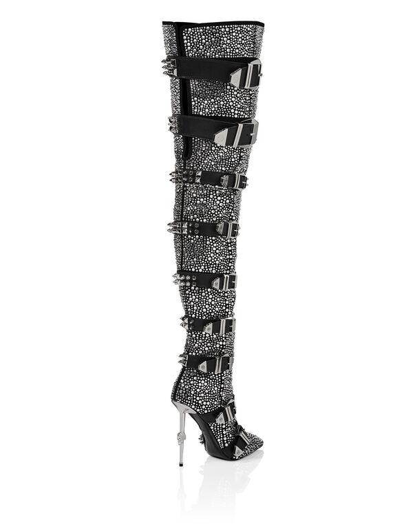 bootie high heels Crystal